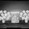 Flowers in pots & baskets, Southern California, 1940