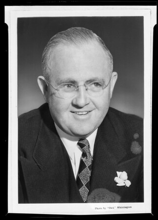 Portrait of Judge Le Roy Dawson, Southern California, 1940