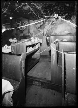 Worn step in Paris Inn, Southern California, 1935