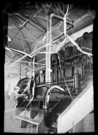 Clark gas engine, Los Angeles Sanitary District, Southern California, 1936