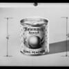 Cans of peaches, Southern California, 1935