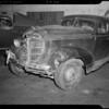 Wrecked 1937 Pontiac sedan and 1932 Ford coupe, 11562 Santa Monica Boulevard, Los Angeles, CA, 1940