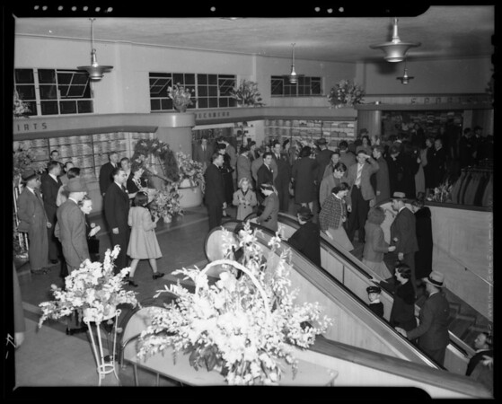 Opening of Hollywood Store, Los Angeles, CA, 1940