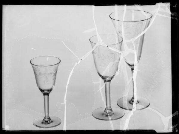 Glassware, Broadway Department Store, Southern California, 1935
