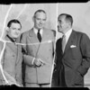 Al Jolson, Victor Young, and Gene Ruck at A.S.C.A.P. at Victor Hugo's, Southern California, 1935