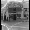 Exterior of Plaza Liquor Store, Southern California, 1935