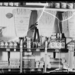 Shelf arms at A&P market, 8813 Wilshire Boulevard, Beverly Hills, CA, 1935