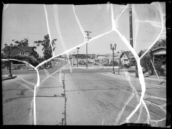 Intersection of West 1st Street & Virgil Avenue, Bradley assured, Los Angeles, 1935