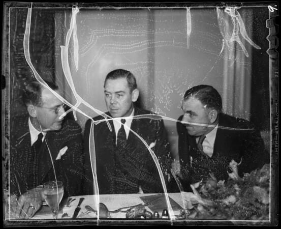 Candid shots at banquet and show, Southern California, 1936