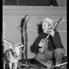 Bing Crosby & singing coyote, Southern California, 1936