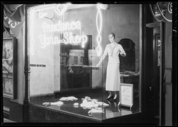 Prudence Yarn Shop, Los Angeles, CA, 1935