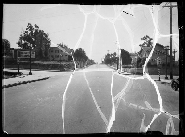 Intersection of West 1st Street & Virgil Avenue, Bradley assured, Los Angeles, 1935