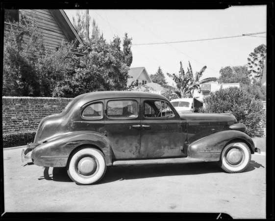 Pontiac sedan, Cotter owner, Southern California, 1940