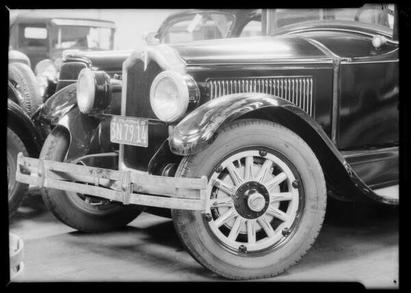 Wrecked 1927 Buick sedan, Edward A. Geraty vs. Charles D. Wright, Southern California, 1935