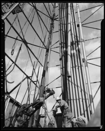 Oil rig, Union Oil Corporation, Southern California, 1940