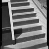 Steps in Hollywood Ball Park and floor in Reliable Market, Los Angeles, CA, 1940