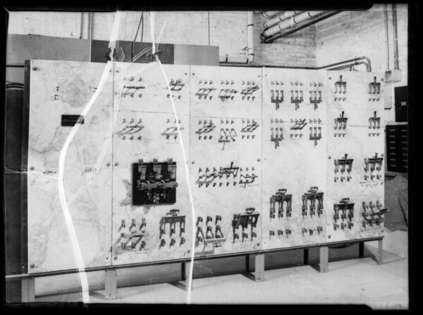 Old switchboard at Manual Arts, Southern California, 1935