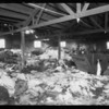Ruins from fire on 3rd floor at 130 Llewellyn Street, Los Angeles, CA, 1935