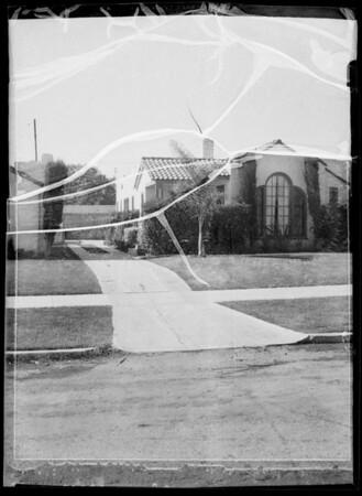 Driveway of Dan W. Walters residence, 2363 Greenfield Avenue,  Los Angeles, CA, 1935