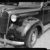 Plymouth showing dents by pedestrian, Paul D. White, owner, Southern California, 1940