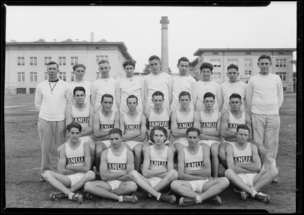 Coach Blair and basketball team, Southern California, 1926