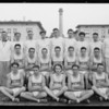 Coach Blair and basketball team, Southern California, 1926