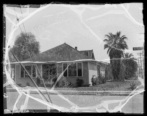 Houses near the studio, Los Angeles, CA, 1936