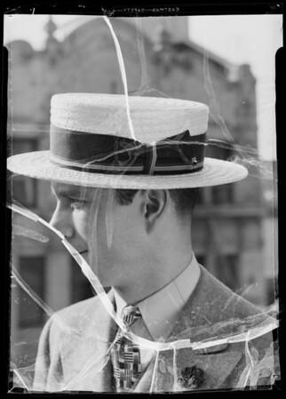 Straw hats, Silverwoods, Southern California, 1936