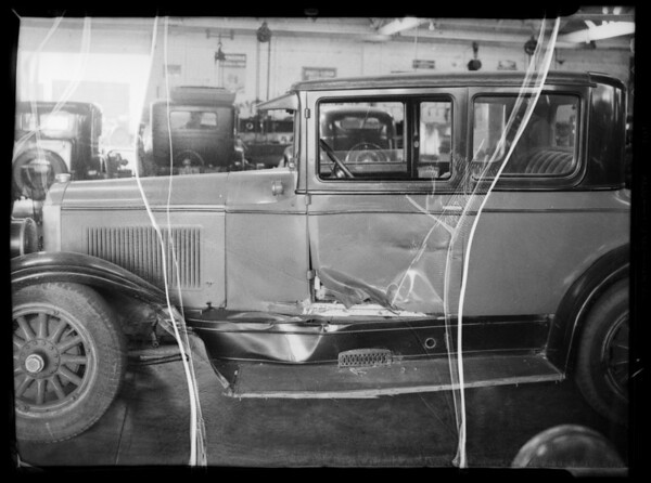 Buick sedan, Mr. Hunt owner and assured, Southern California, 1935