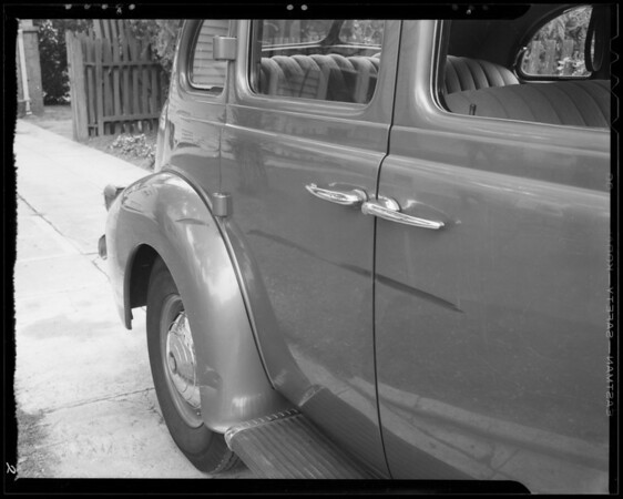 Cadillac car, Southern California, 1940