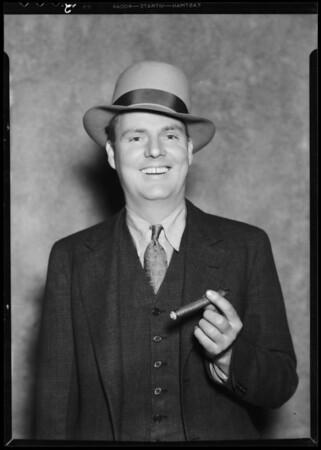 Testimonial man, J.P. Harrison, Southern California, 1935
