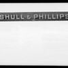 Shull & Phillips, Inc., sign, Southern California, 1940