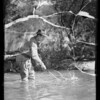Trout fishing, Southern California, 1936