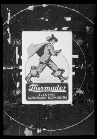 Drawings for lantern slides, Southern California, 1936