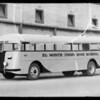 El Monte Union High School bus, Southern California, 1935