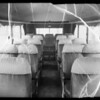 Exteriors and interior of Paramount Studios bus, Southern California, 1936