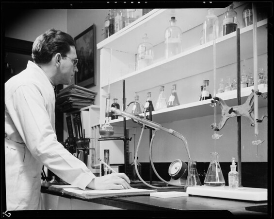 Laboratory equipment and warehouse, Southern California, 1940