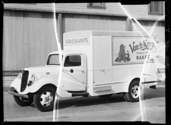 Van de Kamp's truck, Southern California, 1935