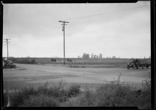 Wreck at Atlantic Avenue and Artesia Boulevard, Long Beach, CA, 1926