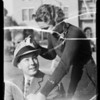 Shell hat tags at Occidental and USC, Los Angeles, CA, 1935