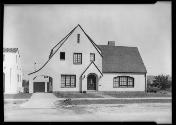 Architecture home--3132 Castle Heights Avenue, Los Angeles, CA, 1926
