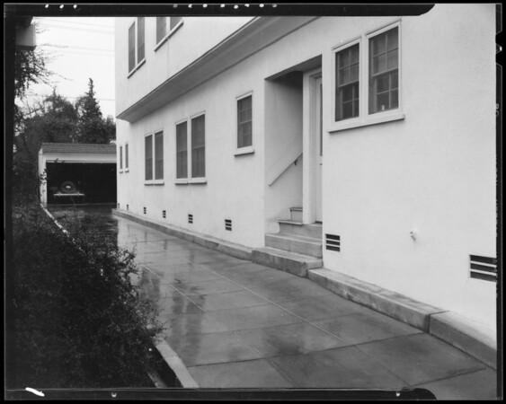 Driveway, 447 1/2 South Norton Avenue, Los Angeles, CA, 1940