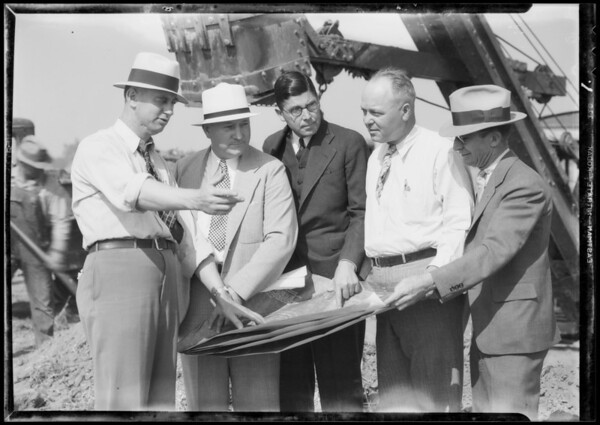 Ground breaking for new cracking plant, Southern California, 1935