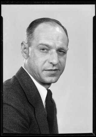 Portrait of W. E. Truesdell, Southern California, 1935