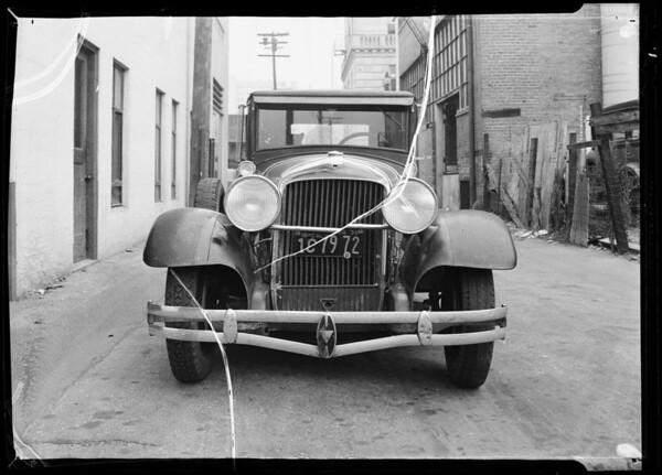 Car belonging to Mr. Hampton, Southern California, 1935