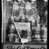 Caramel windows at Oral Drug Stores, Southern California, 1935