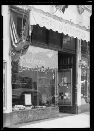 Prudence Yarn Shop, Los Angeles, CA, 1935