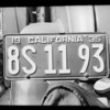 Two extra license plates, Southern California, 1935