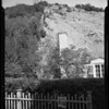 Slide condition in rear of 1040 Stone Canyon Road, Los Angeles, CA, 1940
