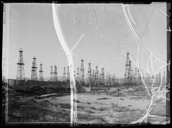 Oil wells, Southern California, 1935